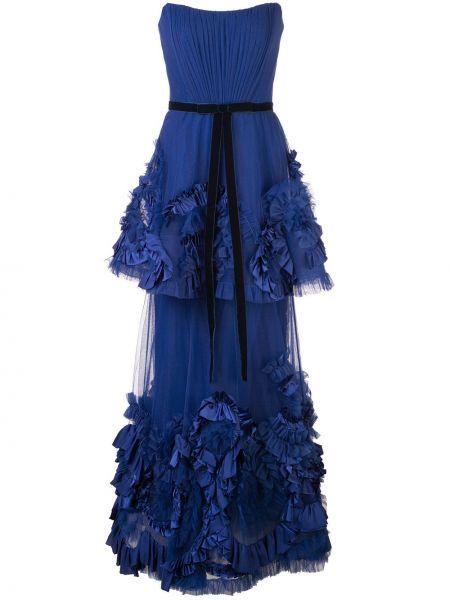 Вечернее платье на бретелях на молнии Marchesa Notte