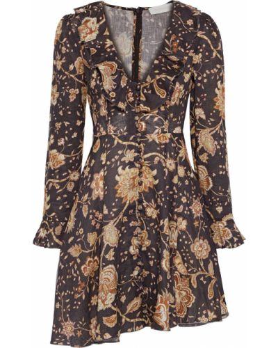Льняное платье мини Zimmermann