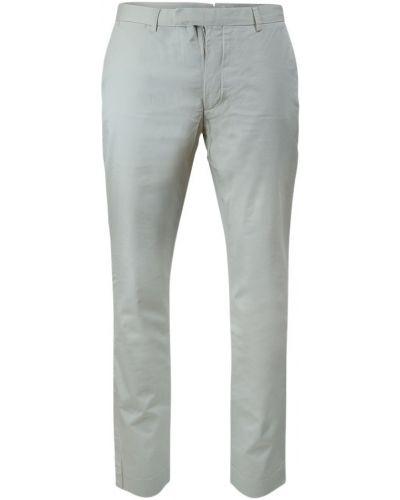 Szare spodnie zapinane na guziki Ralph Lauren