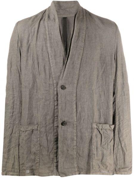 С рукавами серый однобортный пиджак на пуговицах Poème Bohémien