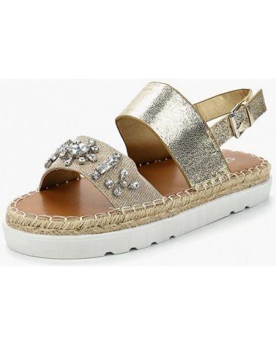 Кожаные сандалии золотого цвета Malien