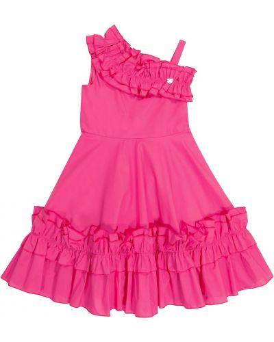 Хлопковое платье - розовое Monnalisa