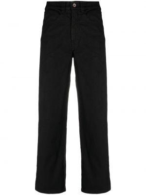 С завышенной талией хлопковые черные укороченные брюки Barena