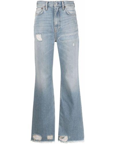 Klasyczne niebieskie jeansy bootcut bawełniane Acne Studios