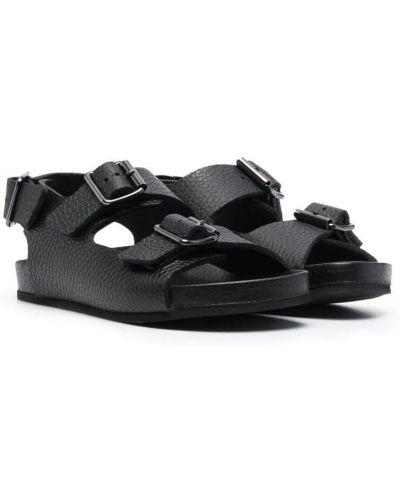 Czarne sandały skorzane peep toe Gallucci Kids