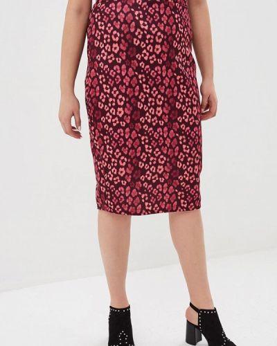 Розовая юбка карандаш с рукавом 3/4 Lost Ink Plus