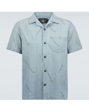 Льняная рубашка с воротником Rrl