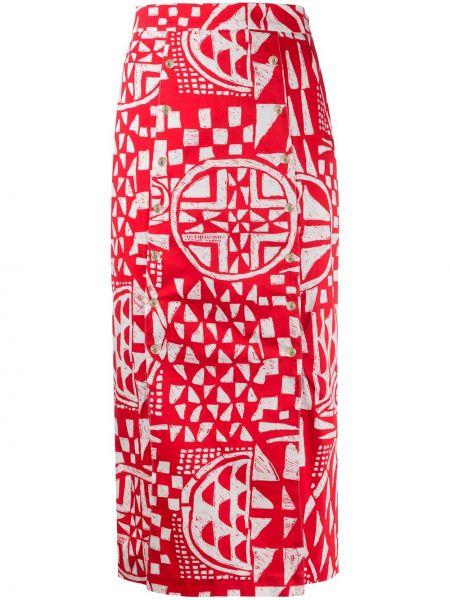 Spódnica ołówkowa elastyczna z nadrukiem Stella Jean