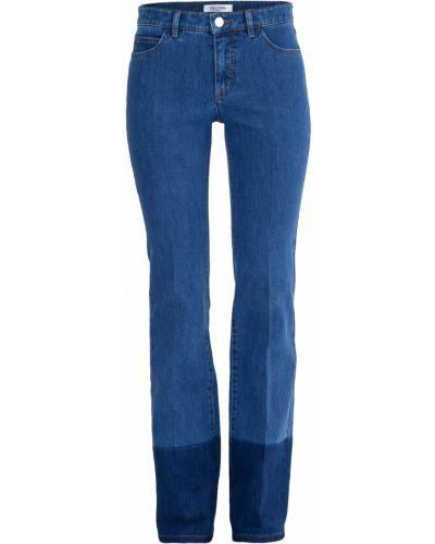 Расклешенные джинсы широкие на пуговицах Valentino