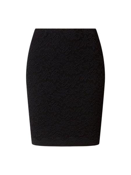Czarna spódnica mini koronkowa bawełniana Rosemunde