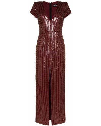 Złota sukienka mini na co dzień krótki rękaw Haney