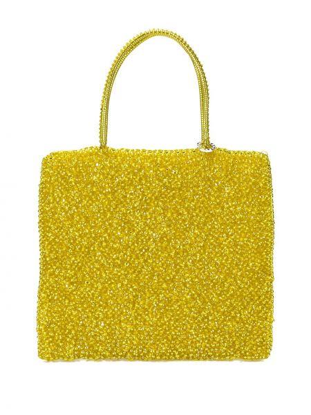 Желтая сумка-тоут круглая Anteprima