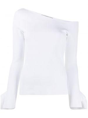 Biały top z długimi rękawami z wiskozy Roland Mouret