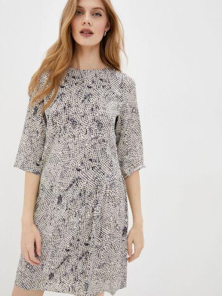 Прямое бежевое платье Sisley