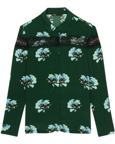 Блузка кружевная с пышными рукавами Maje