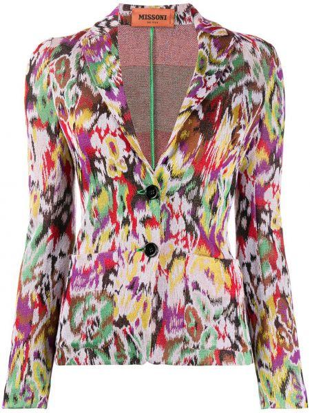 Коричневый приталенный пиджак на пуговицах Missoni