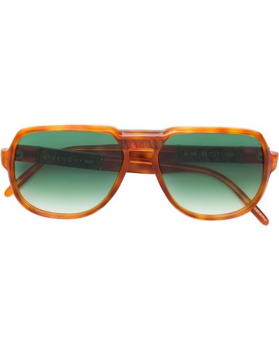 Оранжевые солнцезащитные очки винтажные оверсайз Givenchy Pre-owned
