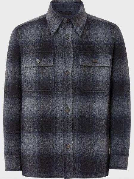 Куртка на пуговицах - синяя Brioni