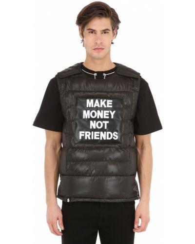 Czarna kamizelka Make Money Not Friends