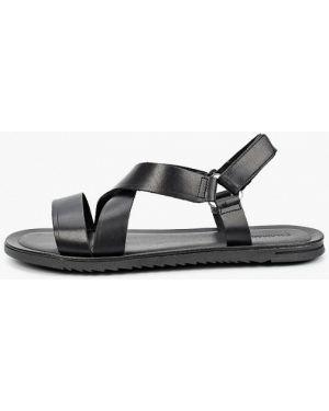 Черные кожаные сандалии Salamander