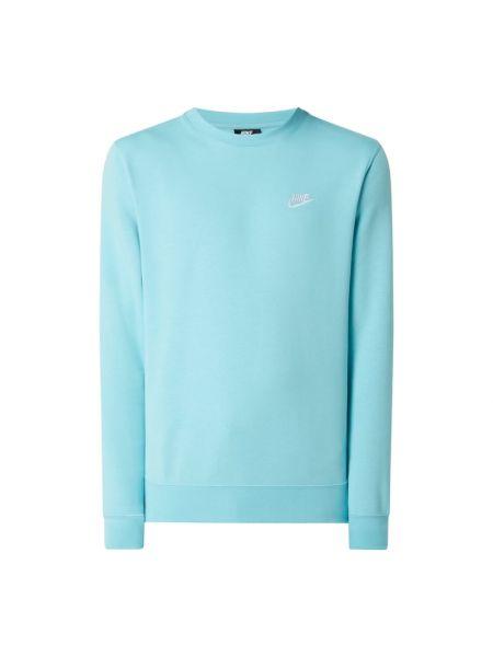 Prążkowana bluza bawełniana turkusowa Nike