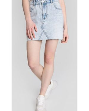 Юбка мини джинсовая с карманами Ostin