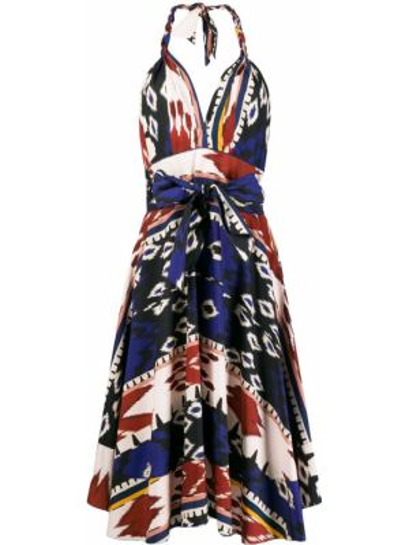 Платье с V-образным вырезом платье-солнце Forte Forte