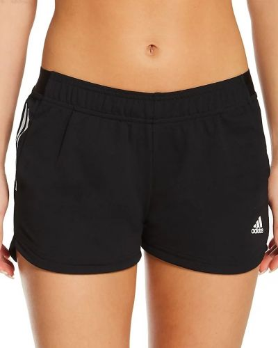 Спортивные шорты сетчатые - черные Adidas