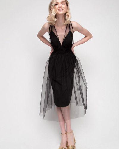 Черное вечернее платье Fors