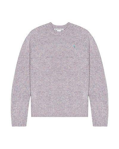 Шерстяной свитер - фиолетовый Acne Studios