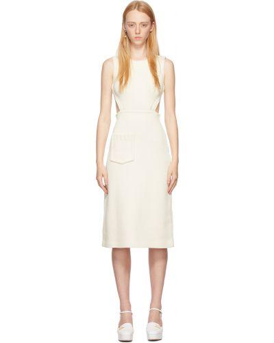 Хлопковое платье - белое Fendi