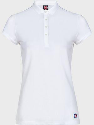 Белое хлопковое поло на пуговицах Colmar Originals