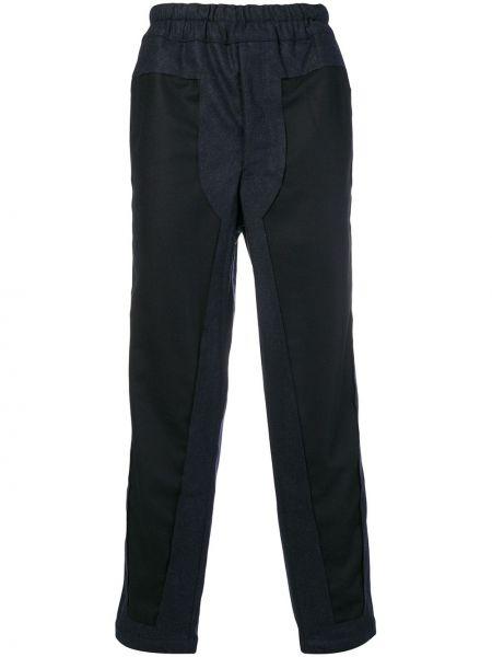Niebieskie spodnie wełniane Comme Des Garcons Shirt