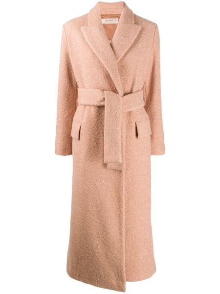 Розовое пальто с поясом Blanca