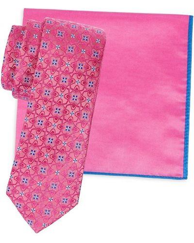 Хлопковый розовый медальон квадратный Ted Baker