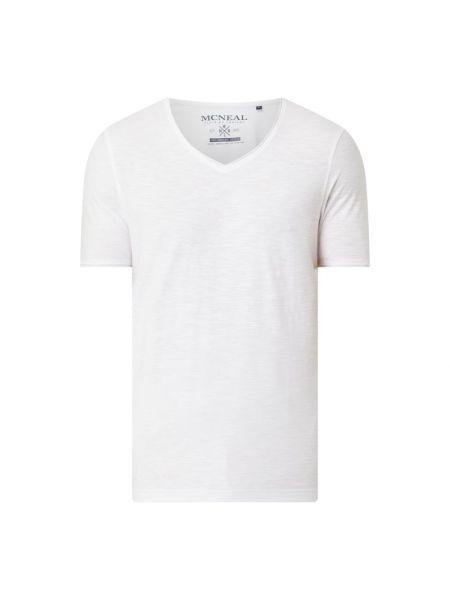 Biała koszulka z dekoltem w serek Mcneal