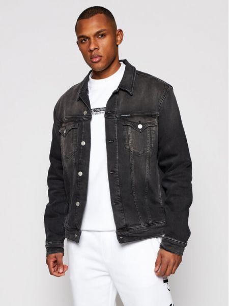 Szara kurtka jeansowa Calvin Klein Jeans