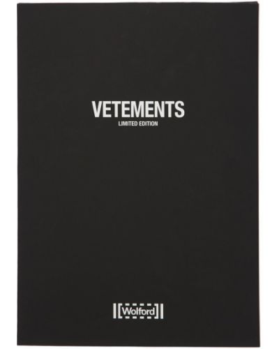 Колготки с логотипом Vetements