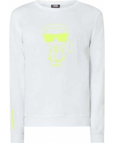 Bawełna biały bluzka z dekoltem okrągły Karl Lagerfeld