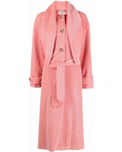 Розовое хлопковое пальто Semicouture