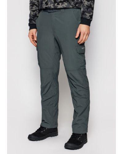 Szare spodnie srebrne Columbia