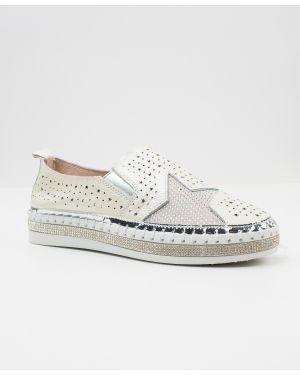 Кожаные белые кожаные туфли Vensi