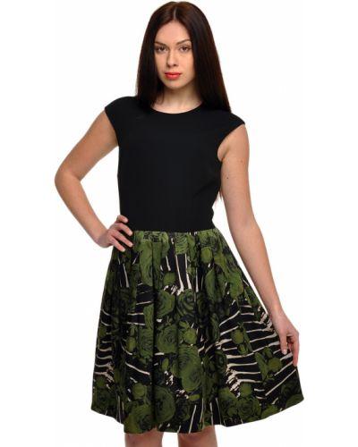 Шелковое платье - черное John Richmond