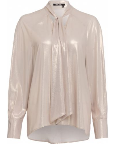 Beżowa bluzka z dekoltem w serek Marc Aurel
