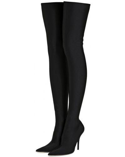 Сапоги-чулки на плоской подошве на шпильке Balenciaga