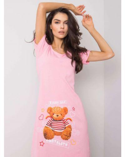 Różowa koszula nocna bawełniana Fashionhunters