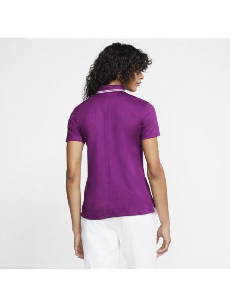 T-shirt w paski - fioletowa Nike