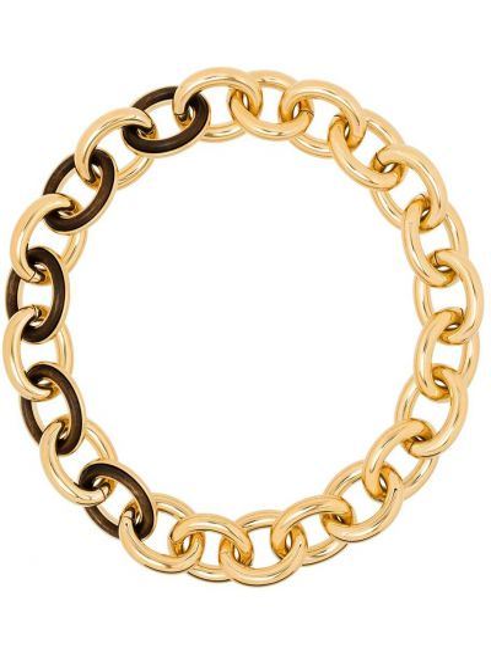 Złoty naszyjnik łańcuch Jil Sander