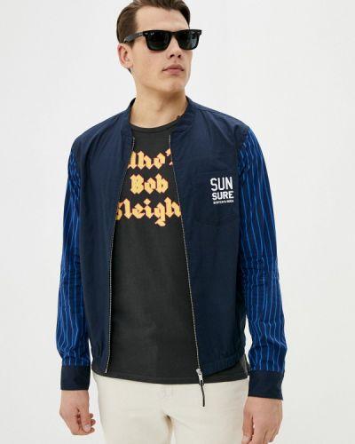 Синяя с рукавами рубашка Scotch&soda