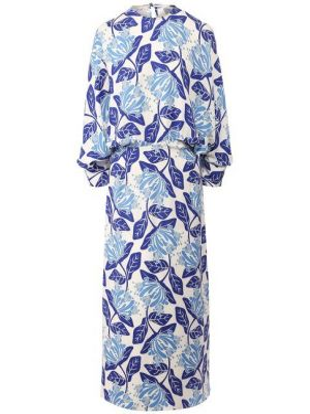 Платье из вискозы - синее Tak.ori